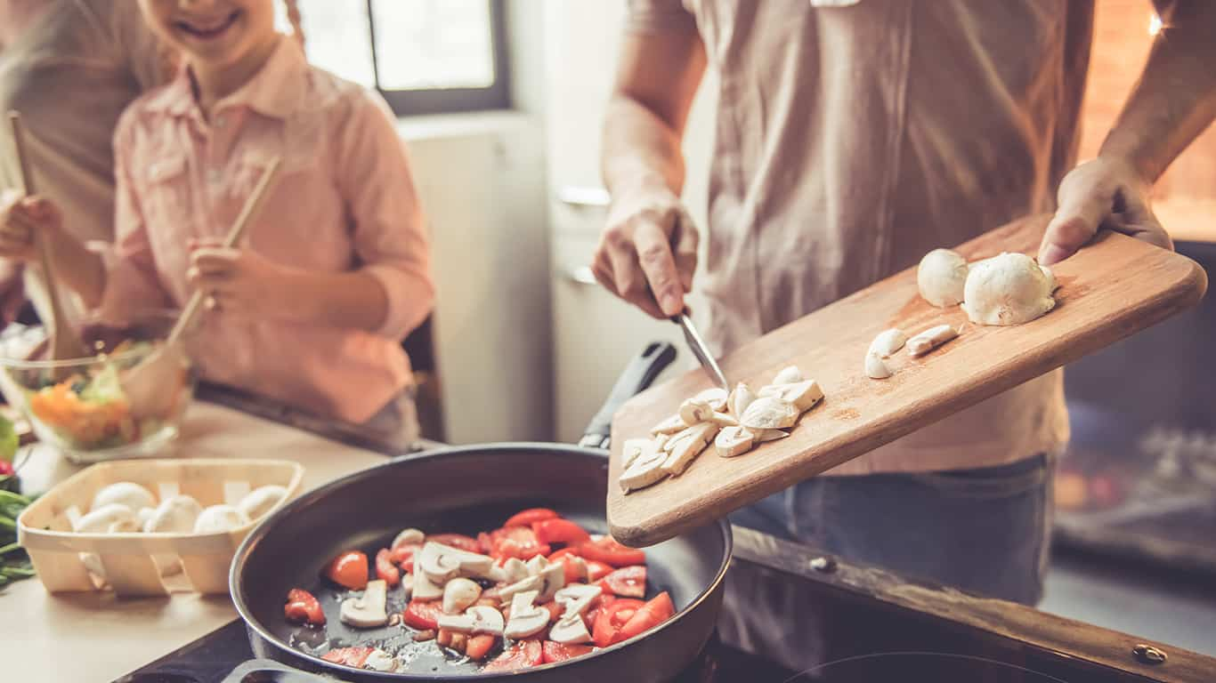 Cook most meals at home