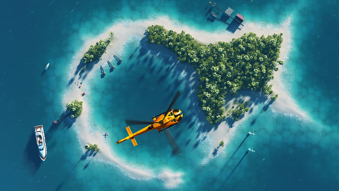 Summer tropical island.