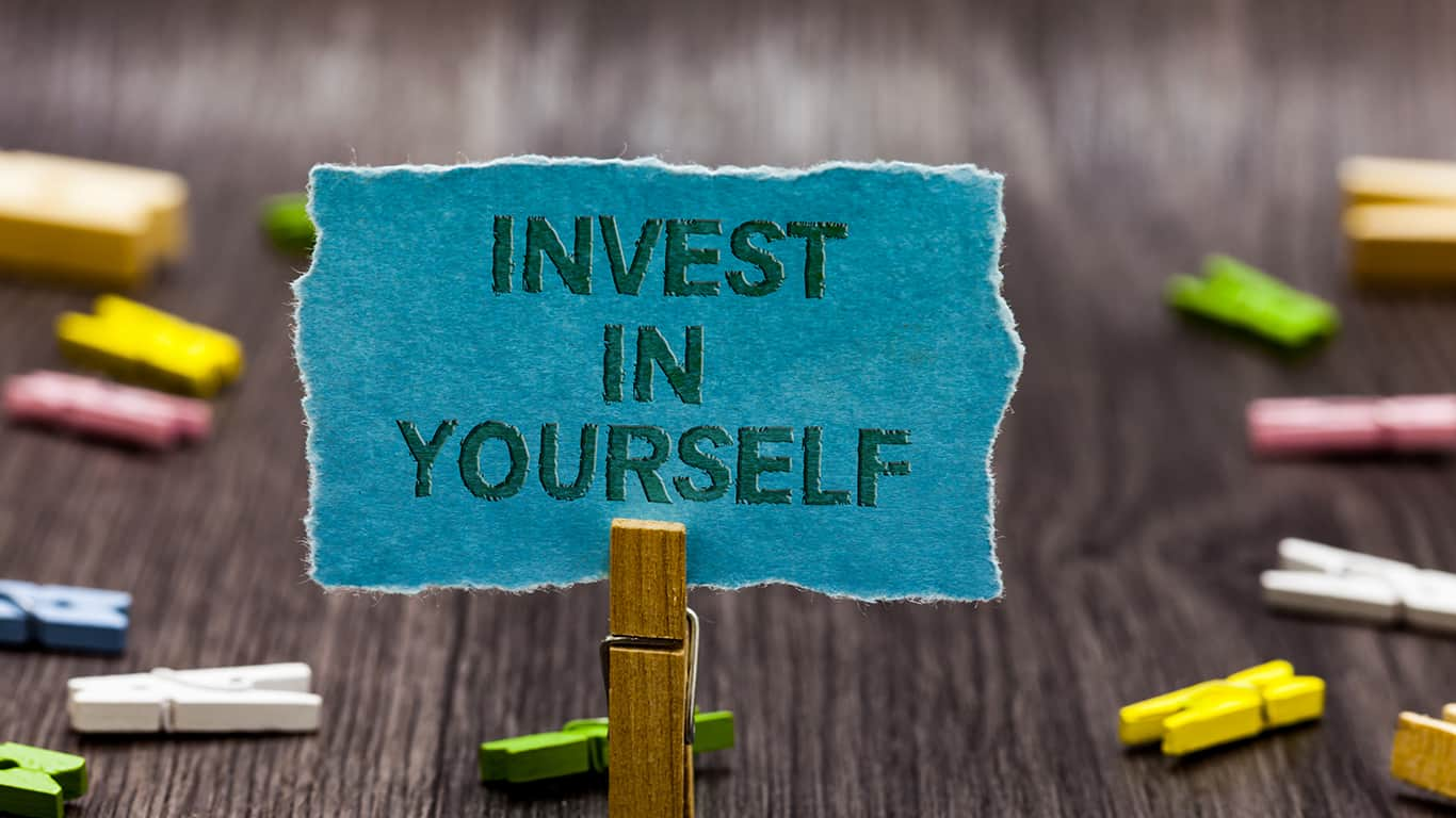 Text sign showing Invest In Yourself.
