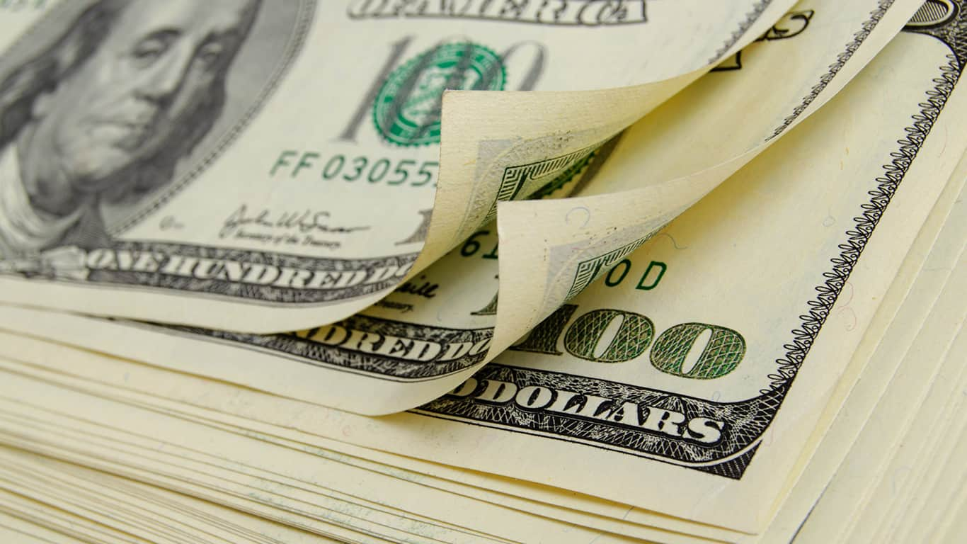 Cash dollars lying on the plane