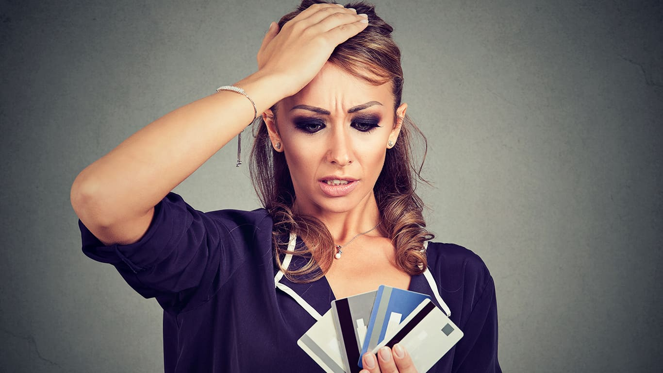 You have a pattern of having too much debt