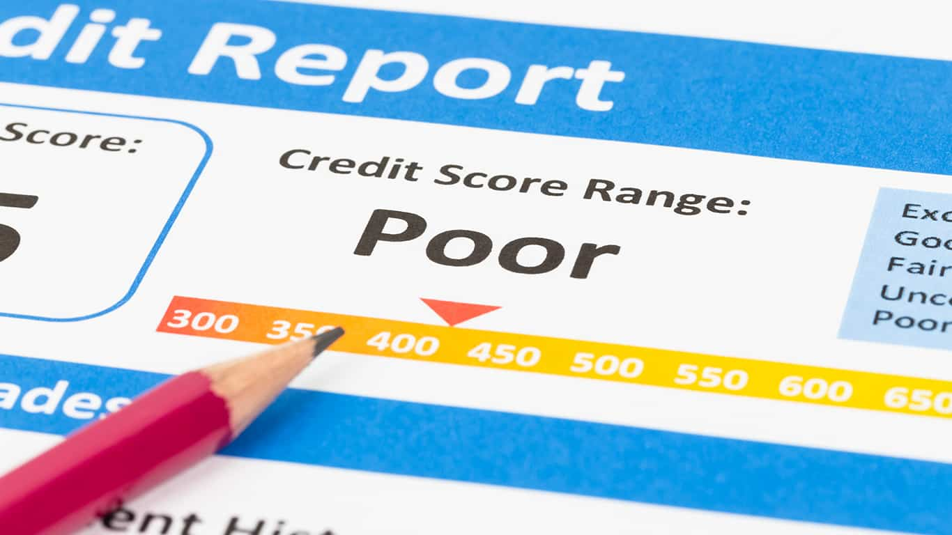 Your credit score takes a hit