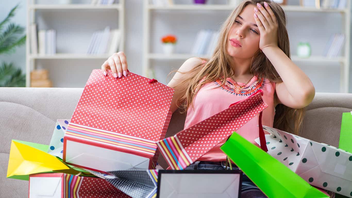 You shop when upset