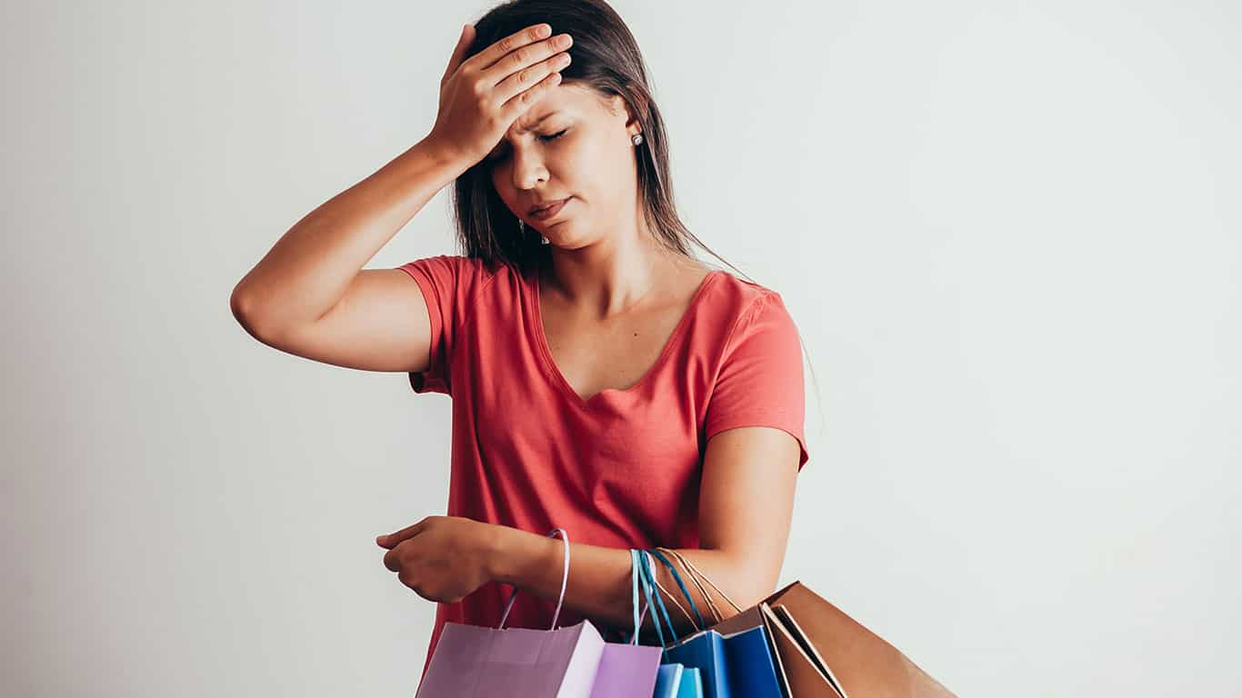You feel shame after shopping