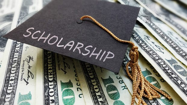Apply for every scholarship possible