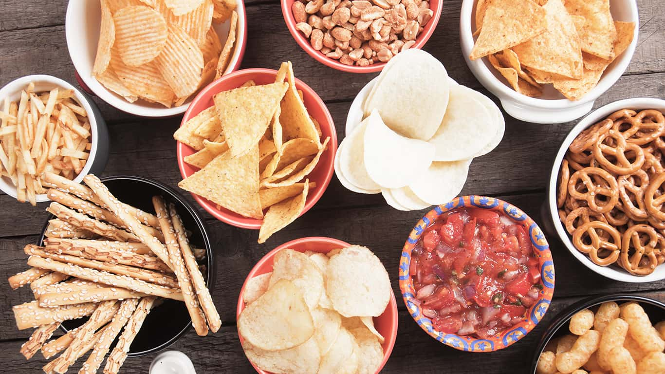 Chips and other snacks
