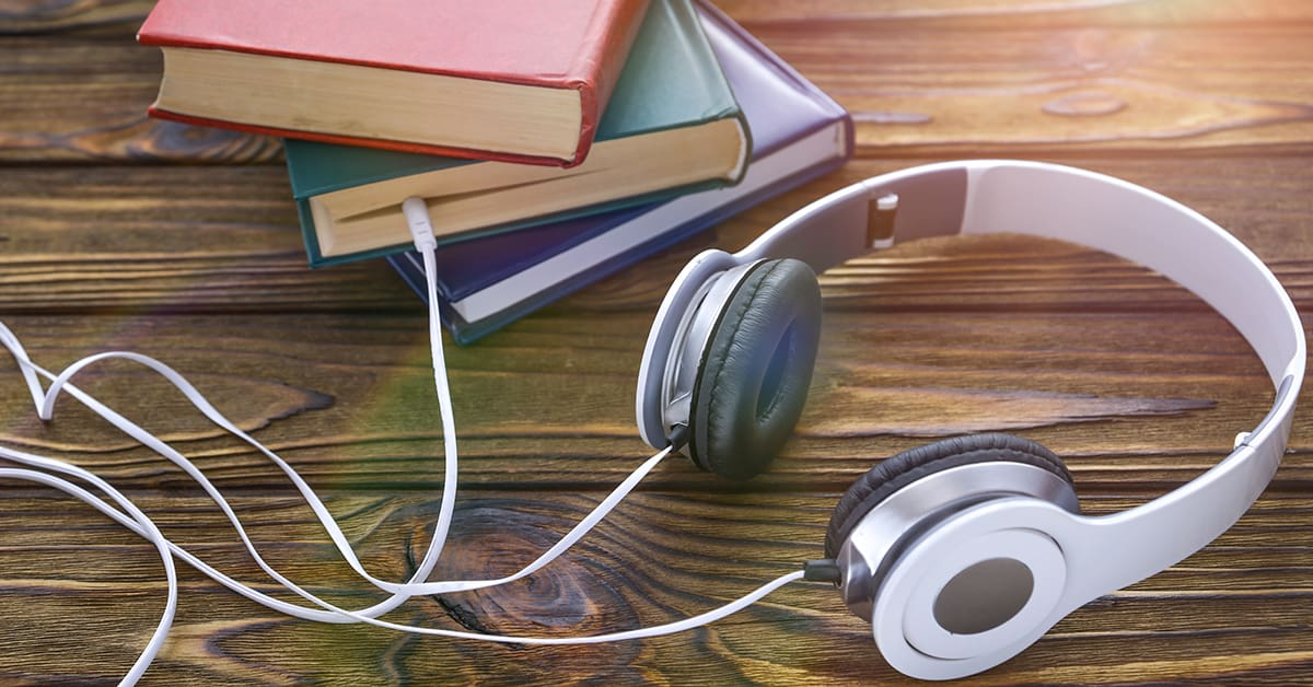 The concept is to listen to audiobooks