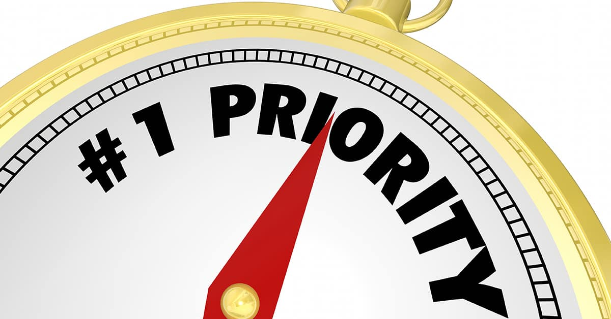 Prioritize One Small Goal