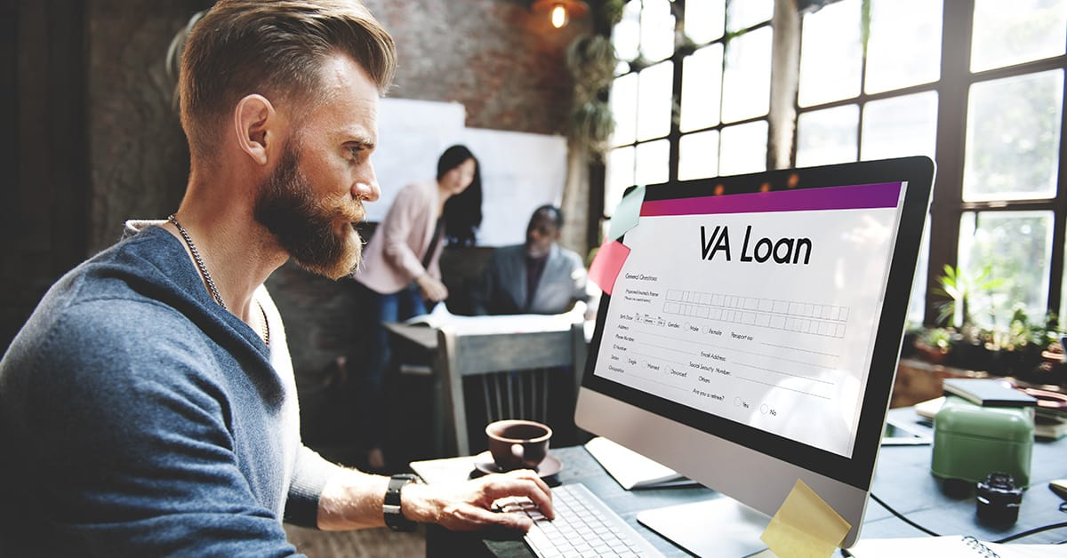 VA Loan Veterans Affair Concept