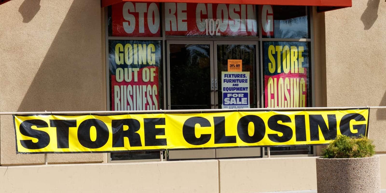 tienda cerrada