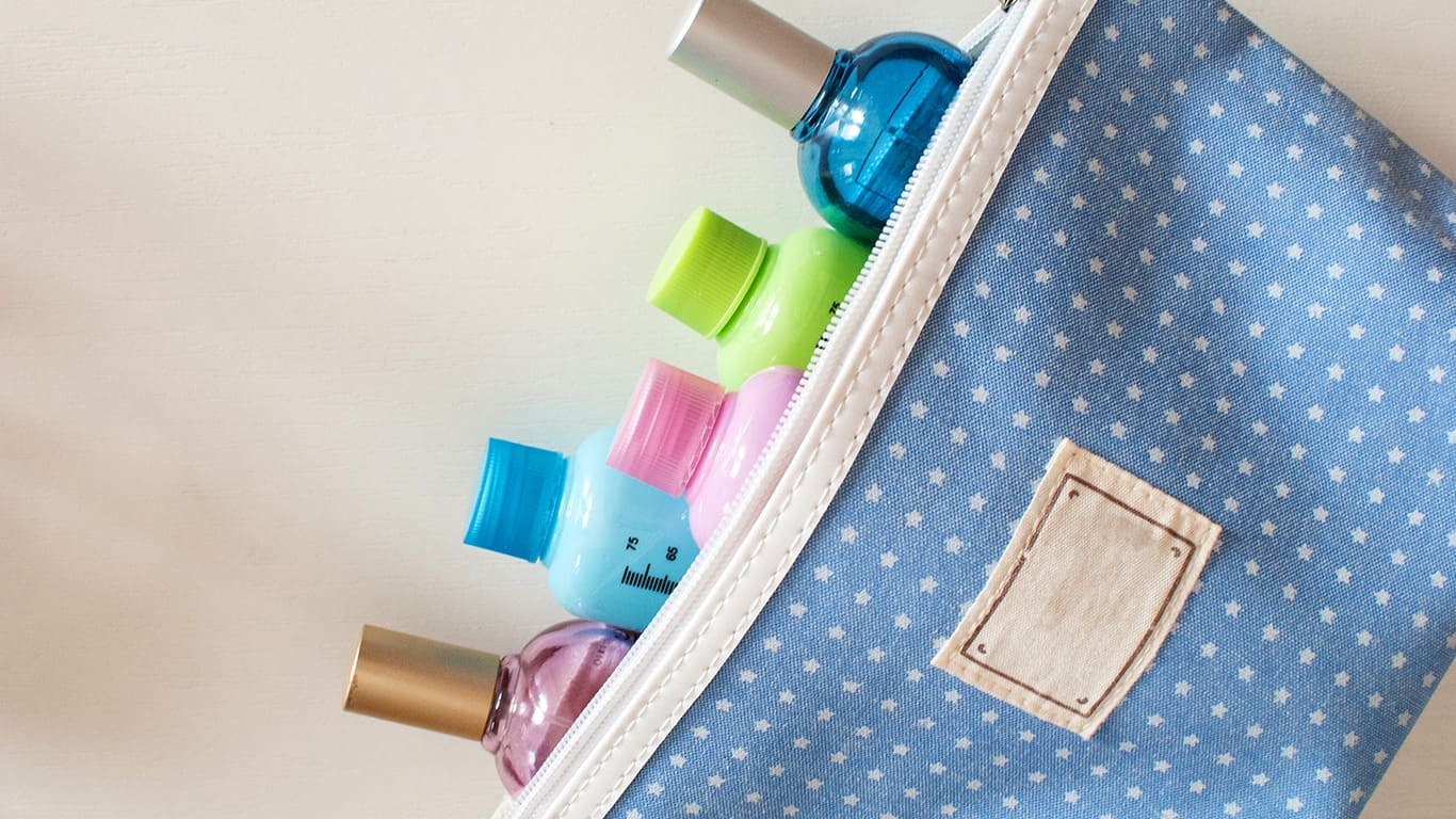 Pack your own toiletries