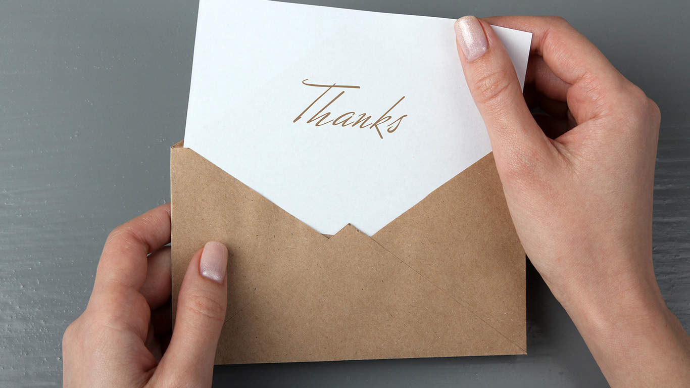 Write a thank you card