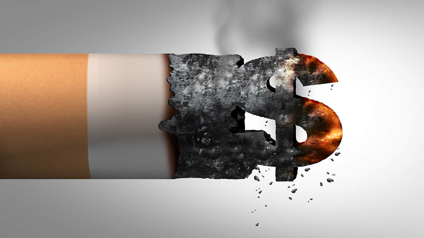 You're missing out on investment returns due to smoking costs