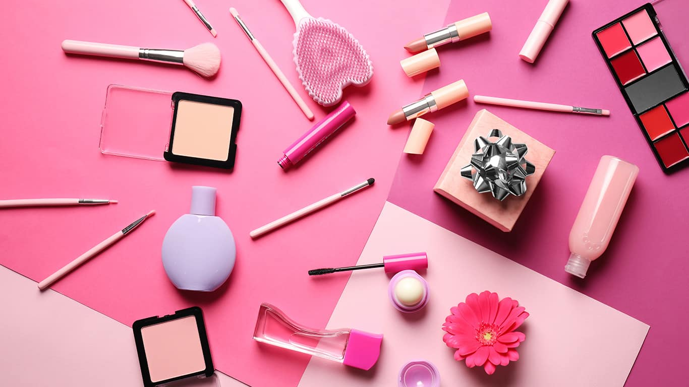 Travel size health beauty items