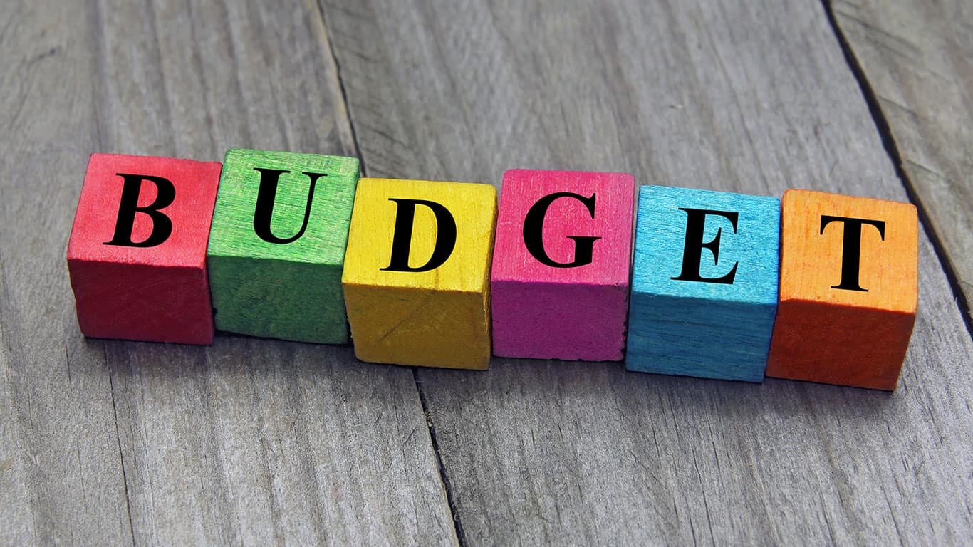 Creating a budget is smart