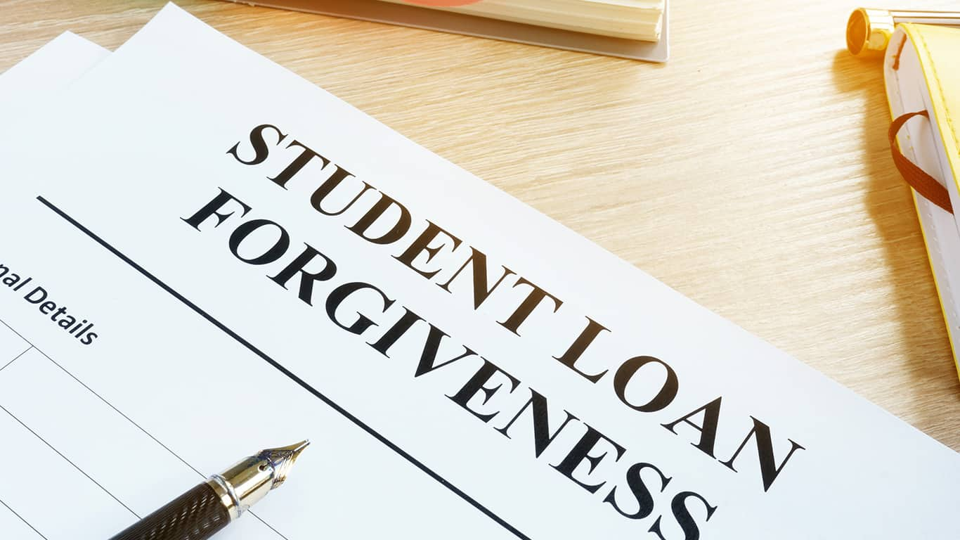 Investigate the potential of student loan forgiveness.