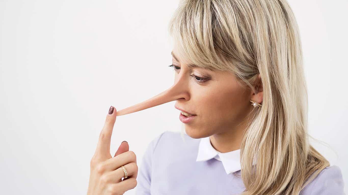 Liar nose