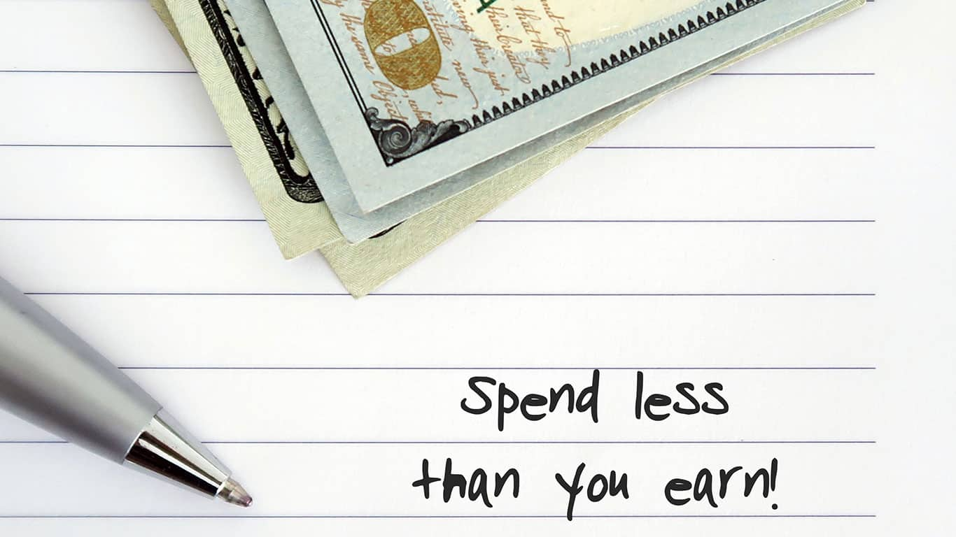 Live more frugally