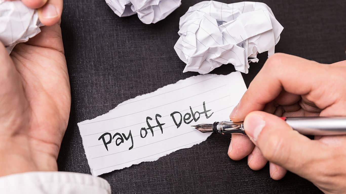 Pay off small debts
