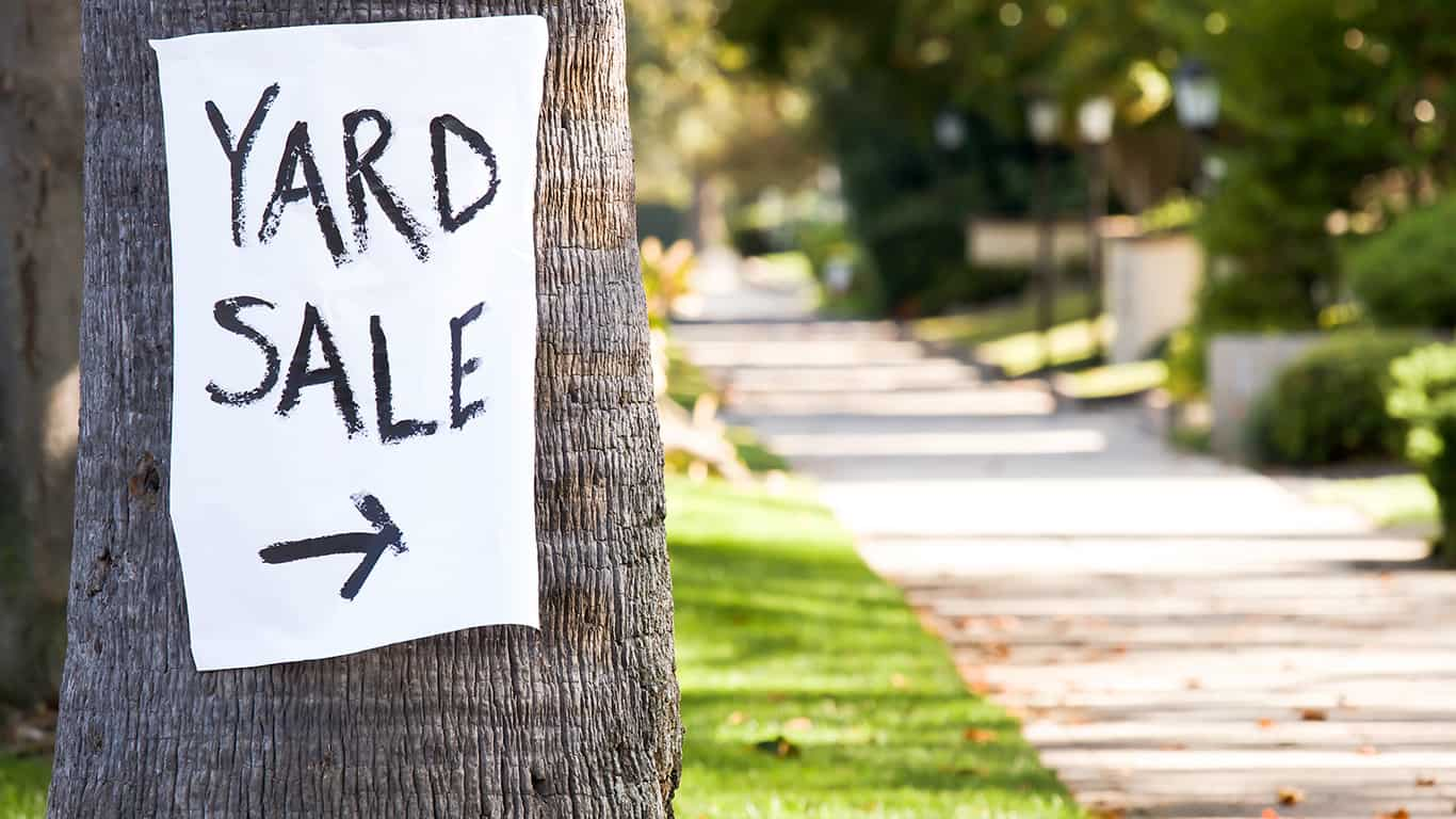 Pay the asking price at a yard sale