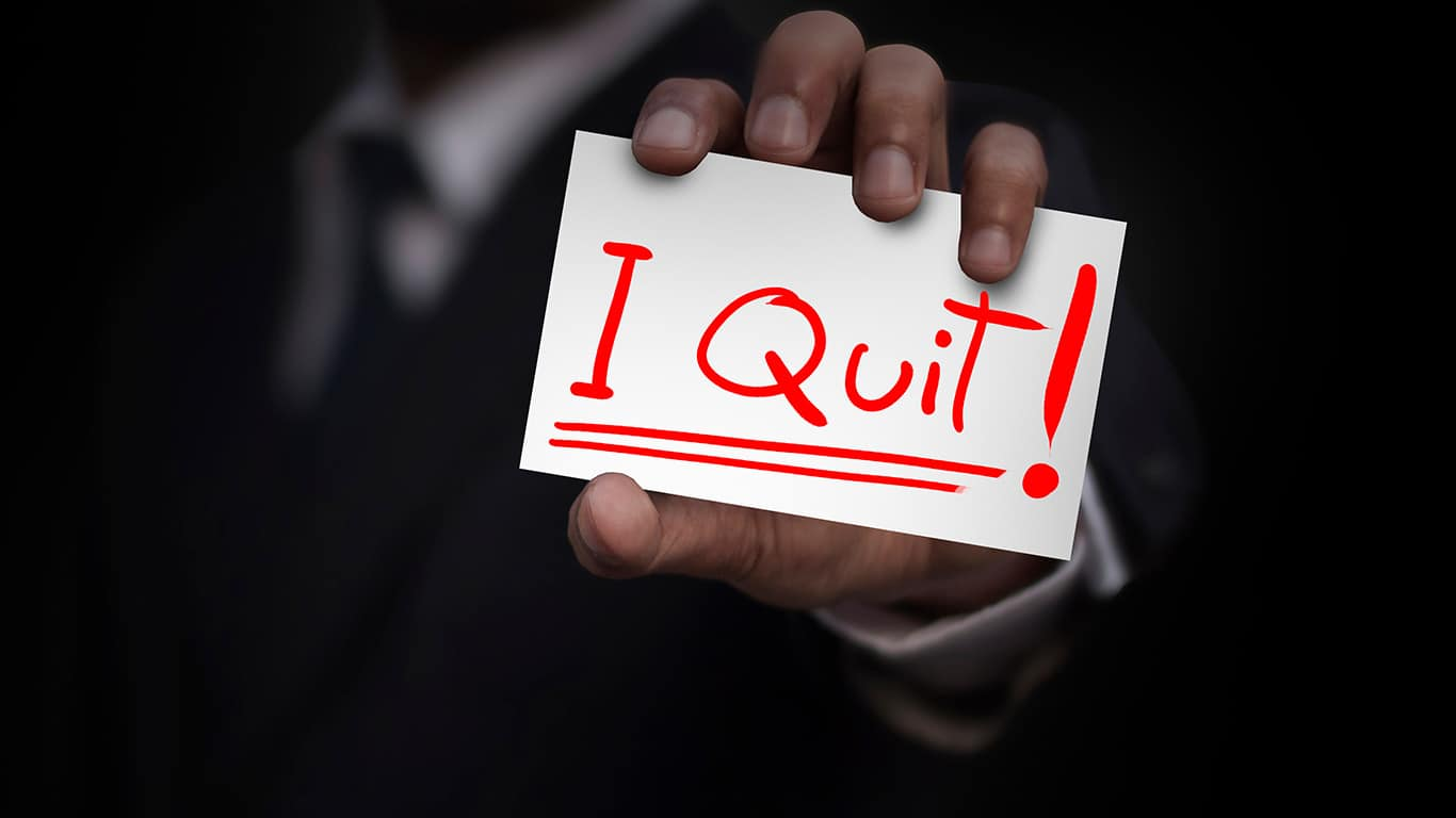 Quitting your job probably disqualifies you