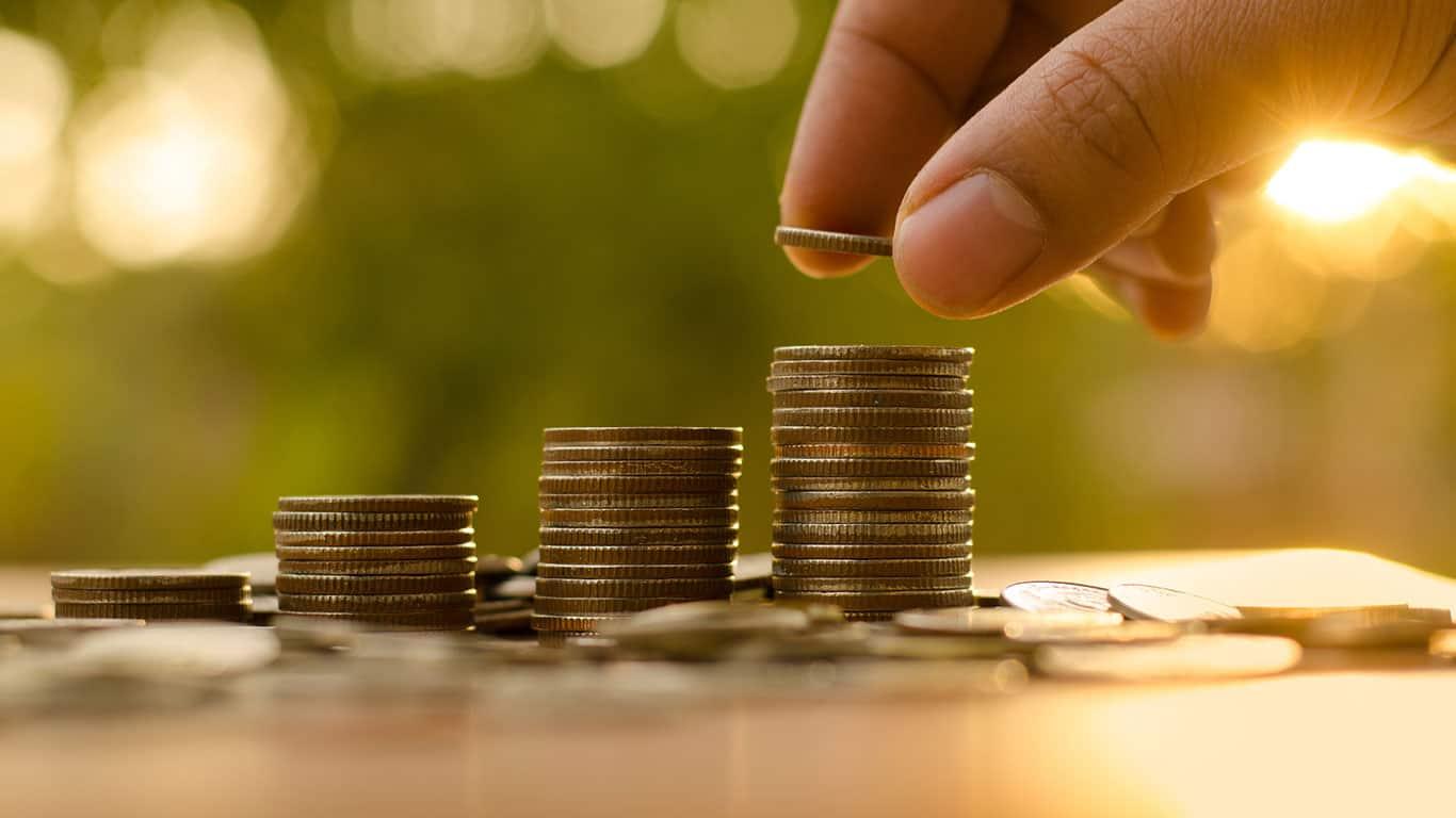 Saving money concept preset by Male