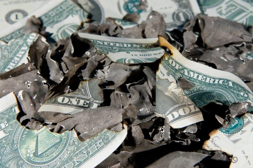 bankruptcy alternatives; burnt up money