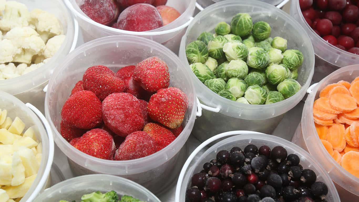 Freeze fruits and vegetables