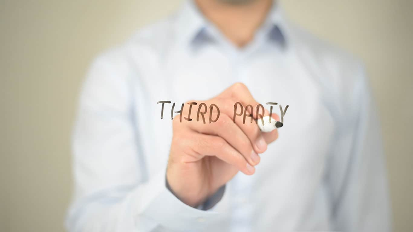 Mention your debt to a third party without permission