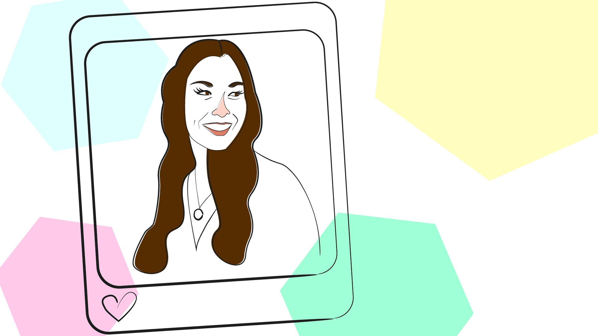 Illustration of Kumiko Love, the Budget Mom