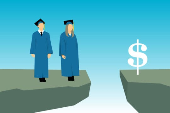 Illustration depicting what the HEROES Act says about private student loans.