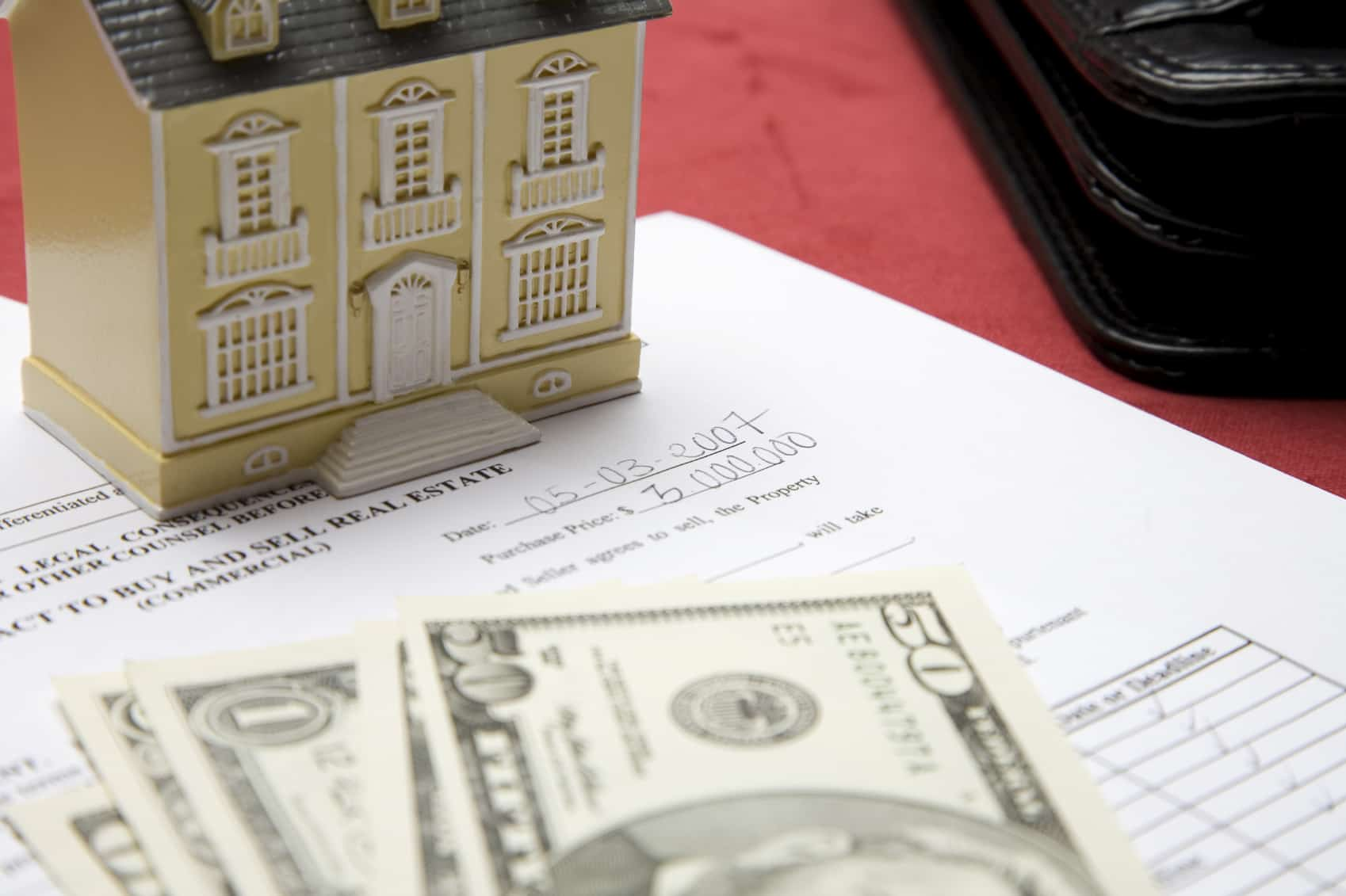 home equity line of credit (HELOC); mini house and some cash on top of a written home equity loan agreement