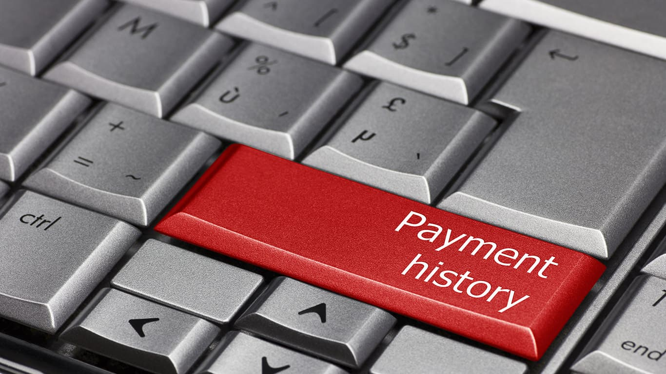 Offer alternate proof of payment history