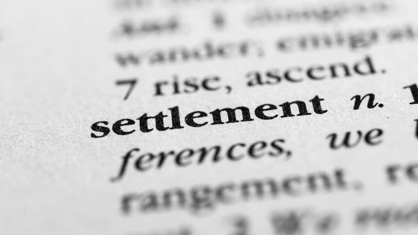Accepting a settlement