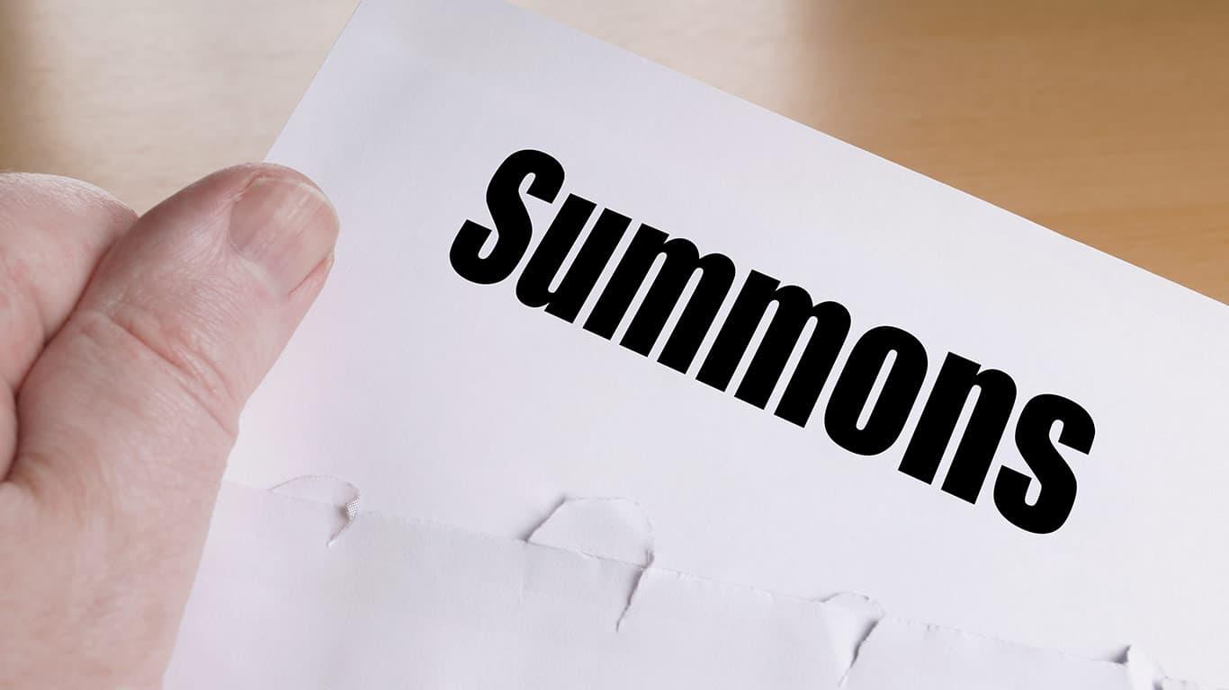Ignoring a court summons