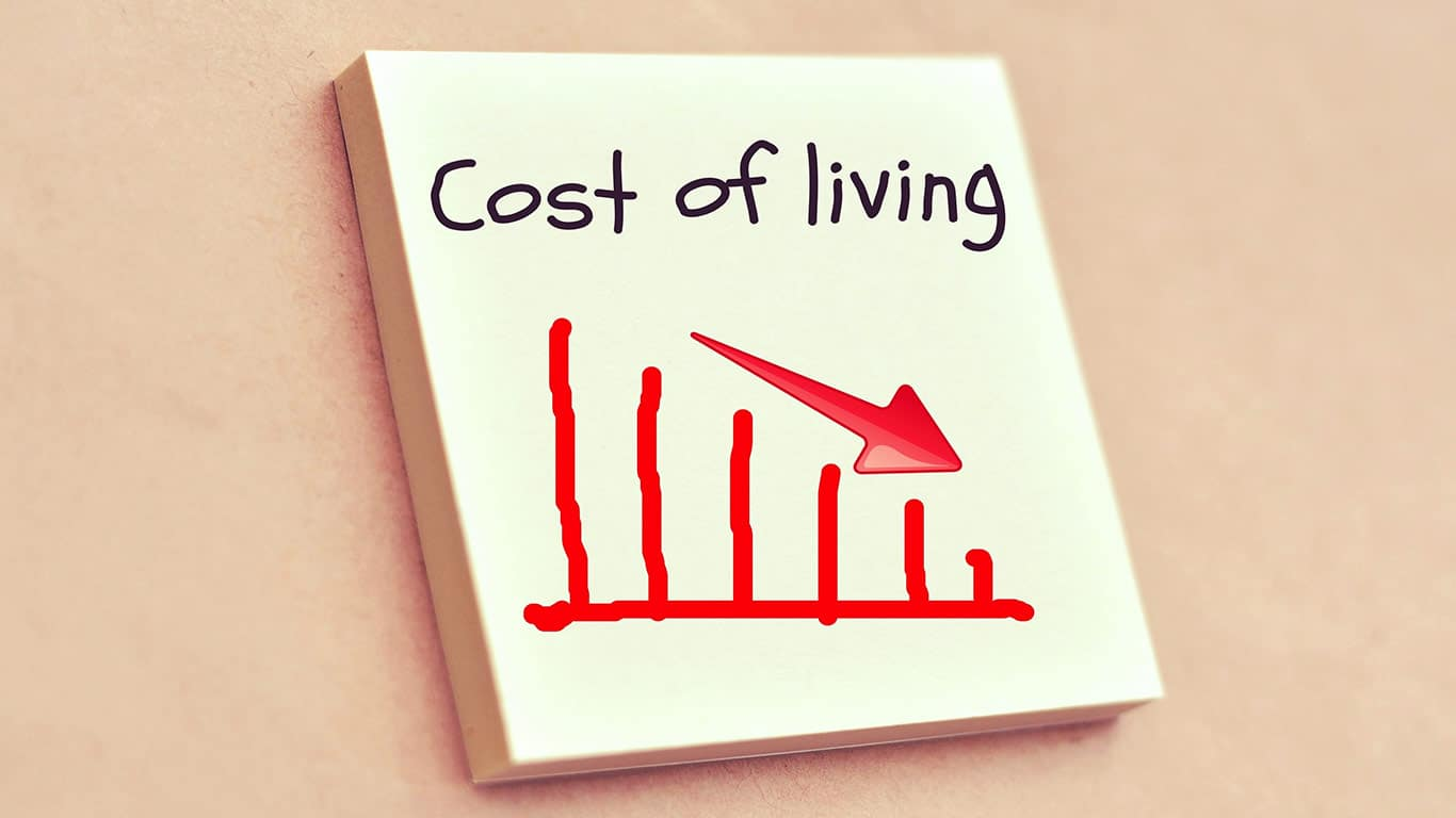 Lower cost of living