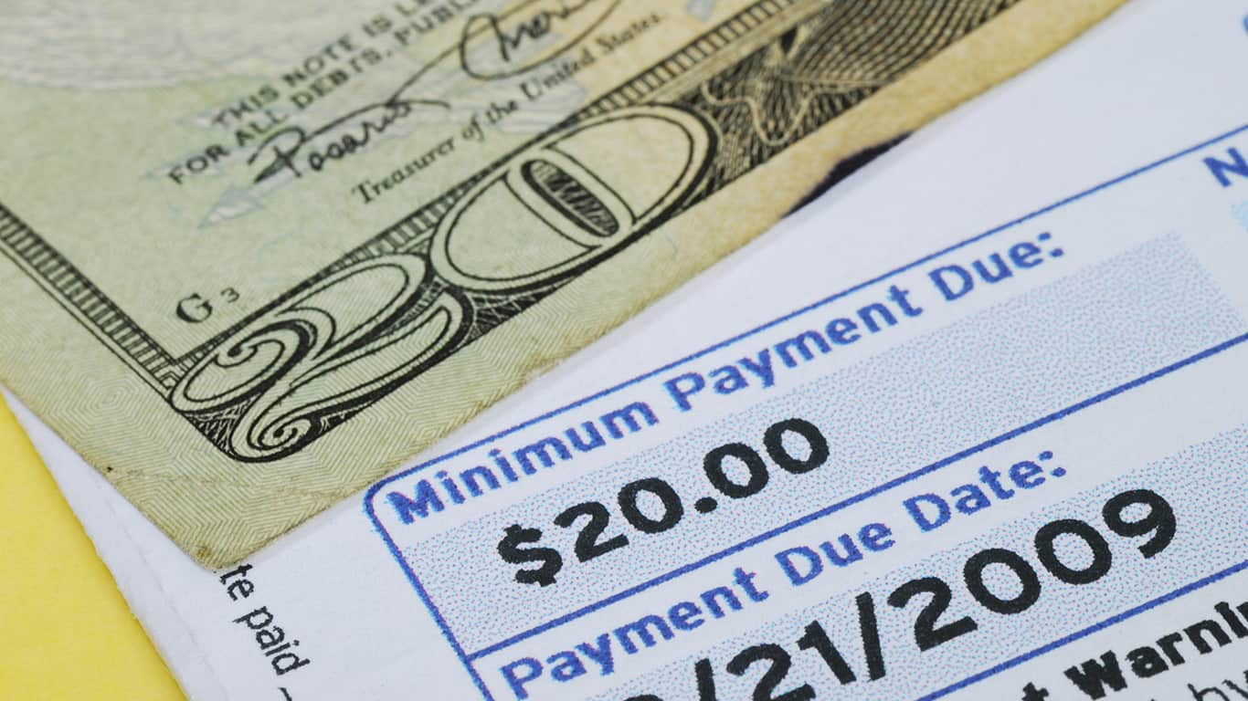 Making only minimum payments