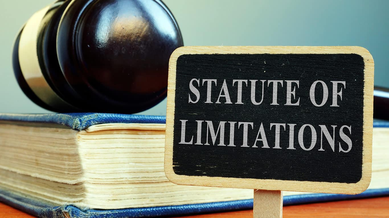 Not knowing the statute of limitations
