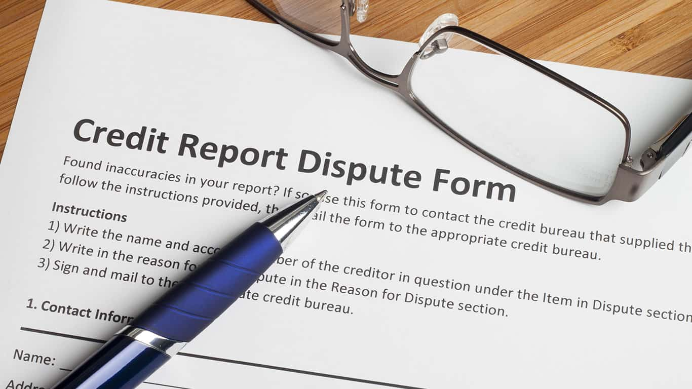 Report and dispute credit report inaccuracies