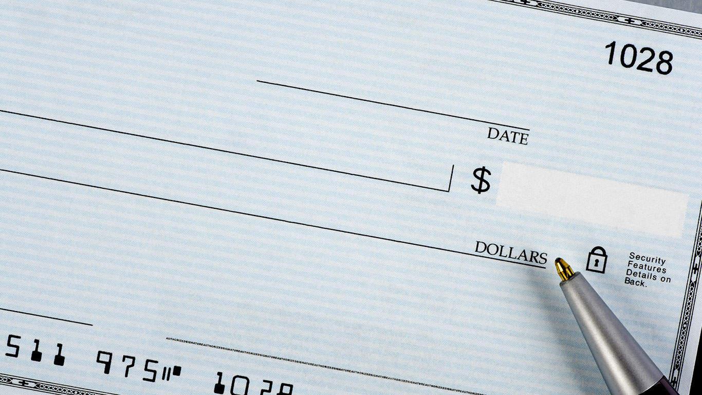 Sending you a fat check