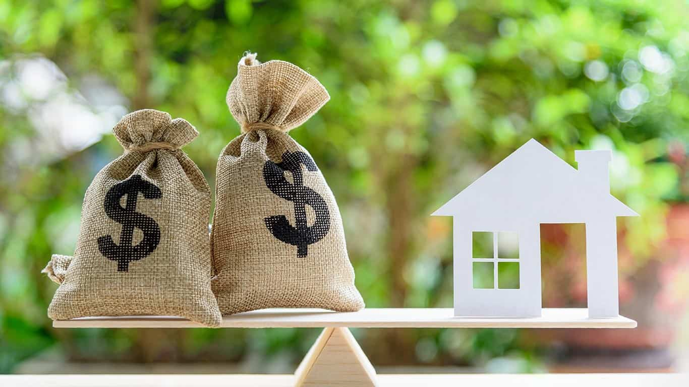 Home loan / reverse mortgage or transforming assets into cash concept