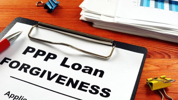 Paycheck Protection Program PPP Loan forgiveness application form.