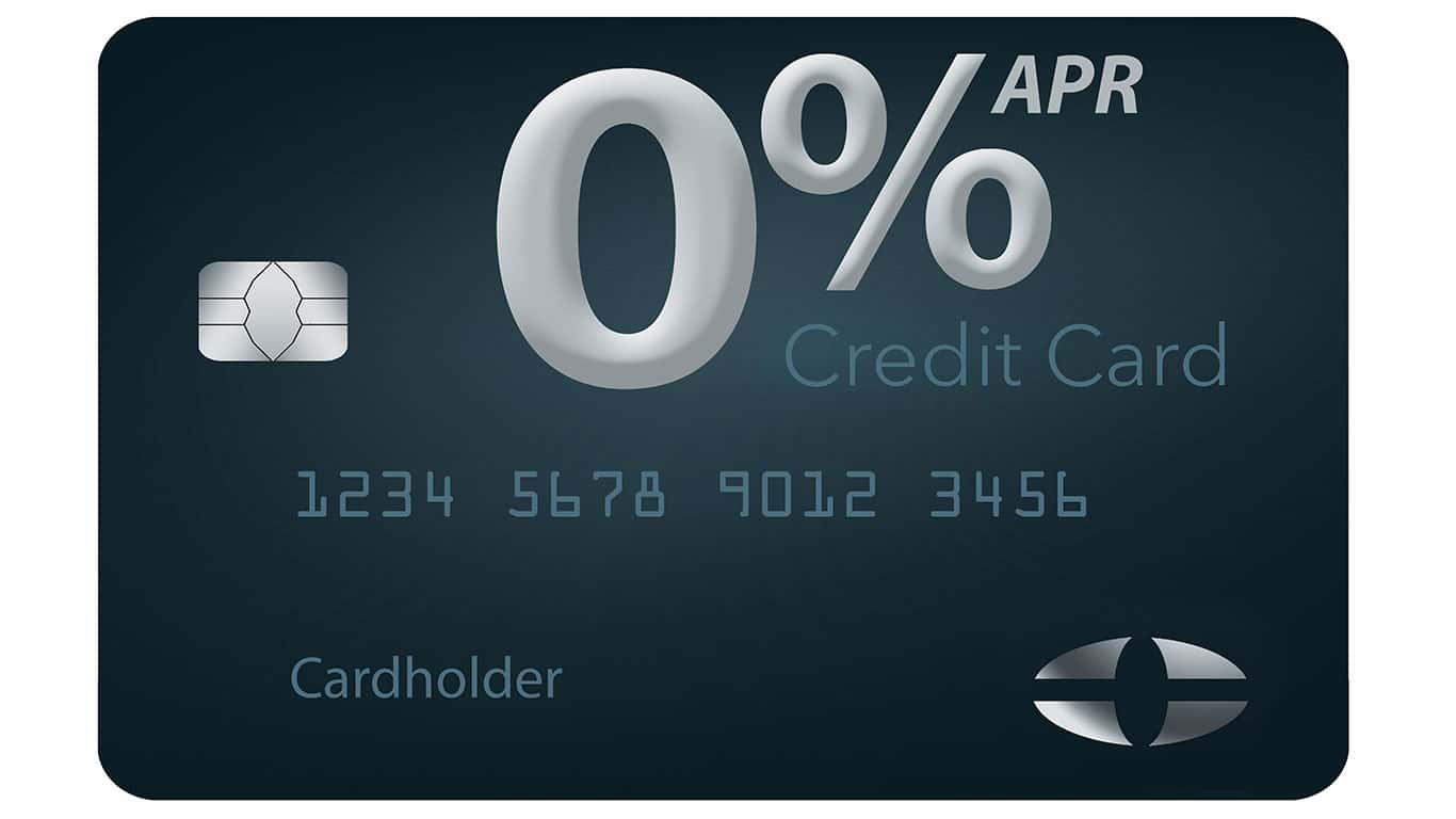 You use a card with a 0% APR