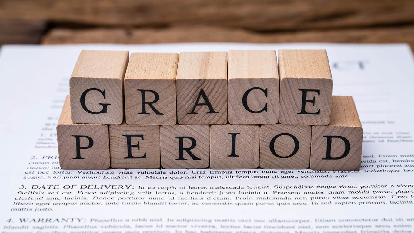 Don't expect a grace period