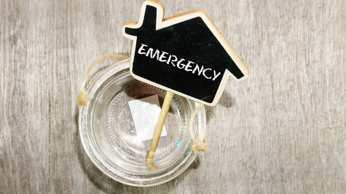 You have no emergency savings fund