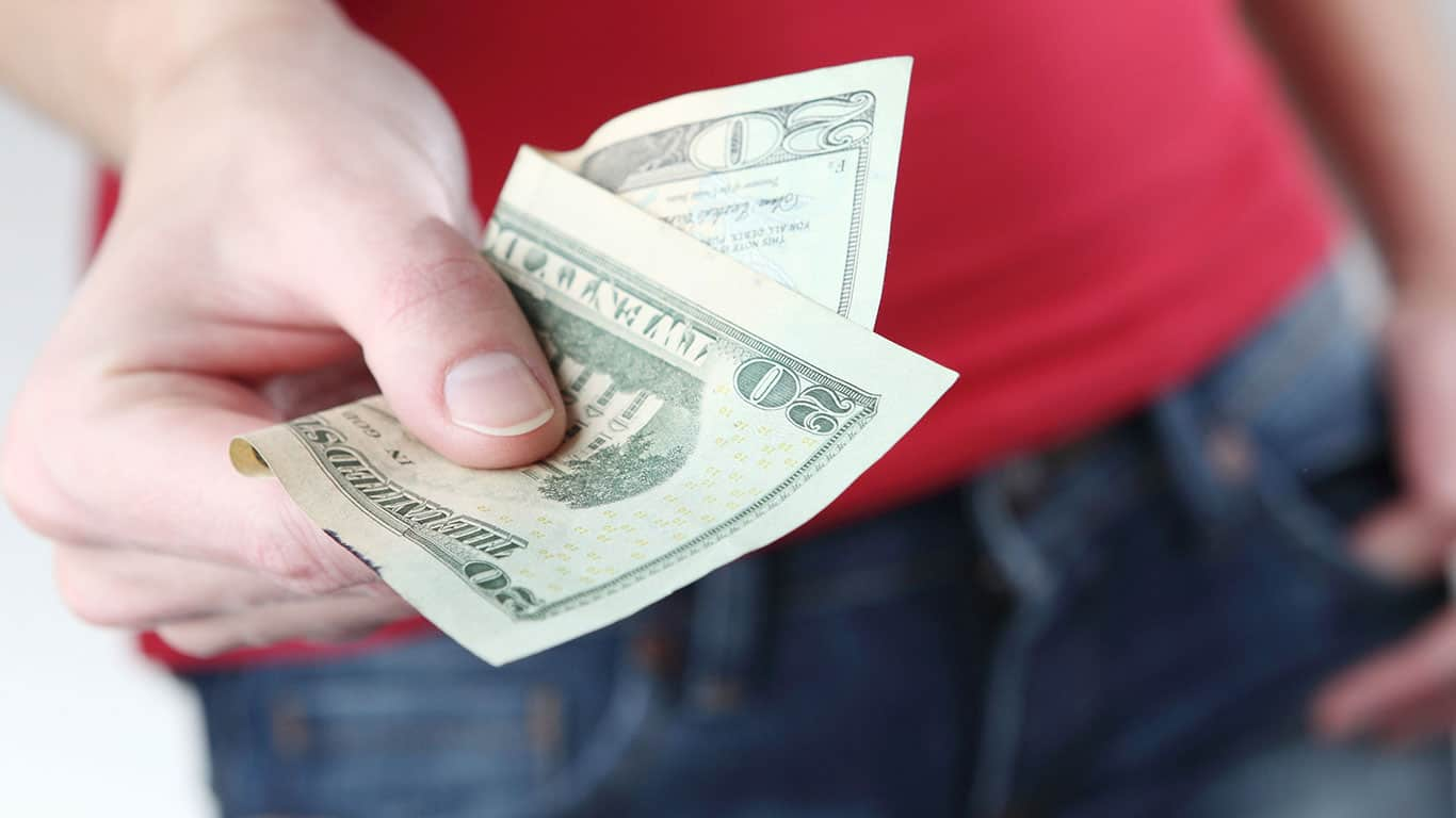 Your friend loaned you money in the past