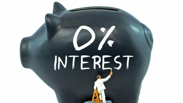 A piggy bank with zero percent interest