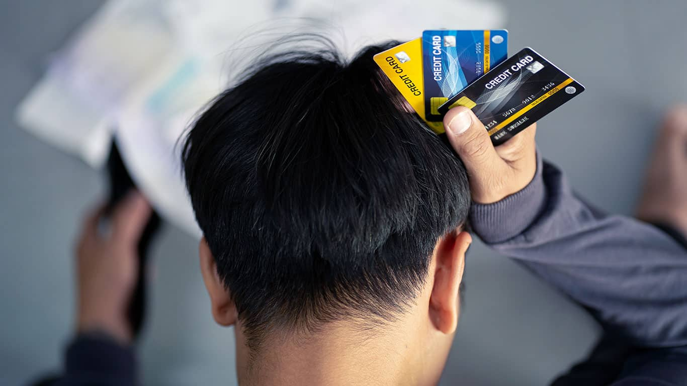 Having too much credit card debt