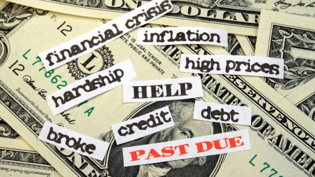 Money with PAST DUE debt HELP financial crisis