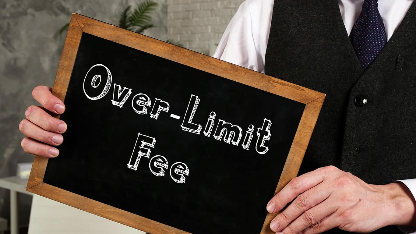 Over-the-limit fees